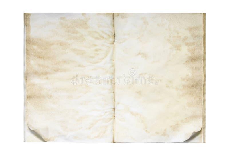 Öffnen Sie altes und schmutziges unbelegtes Übungsbuch lizenzfreies stockbild