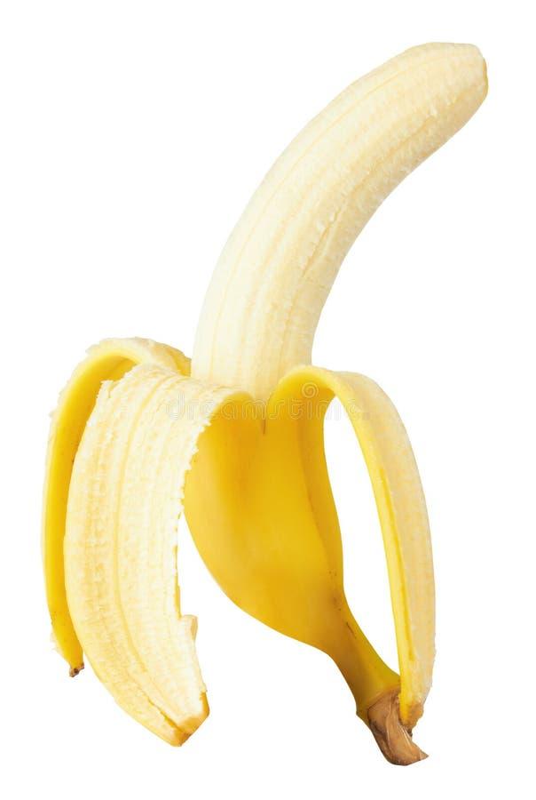 Öffnen Sie Banane lizenzfreie stockfotos