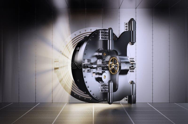 Öffnen Sie Banktresor-Tür vektor abbildung