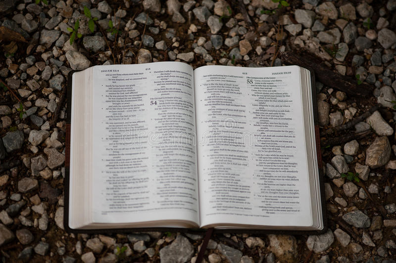 Öffnen Sie Bibel lizenzfreie stockfotografie