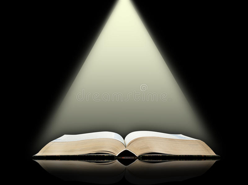 Download Öffnen Sie Buch, Schwarzen Hintergrund Stockbild - Bild von tapete, symbol: 26373301