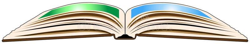 Öffnen Sie Buch von der Unterkante lizenzfreie abbildung