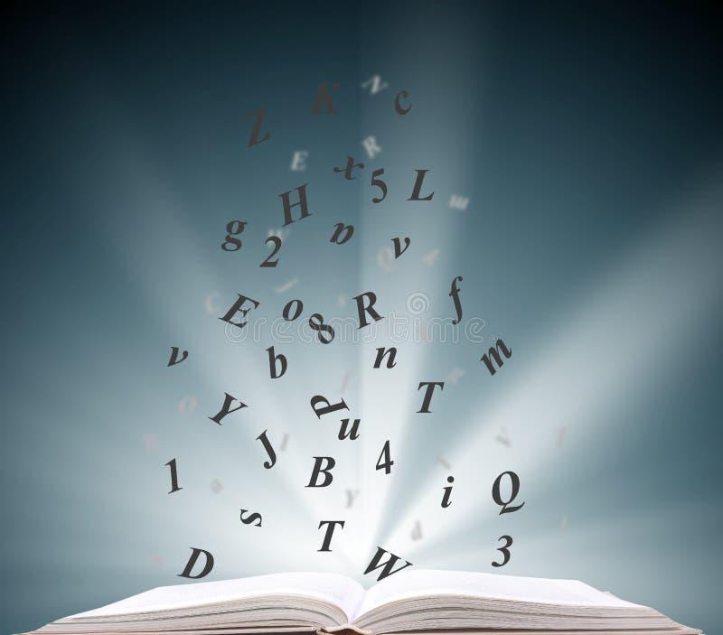 Öffnen Sie Buchinformationen stockbilder