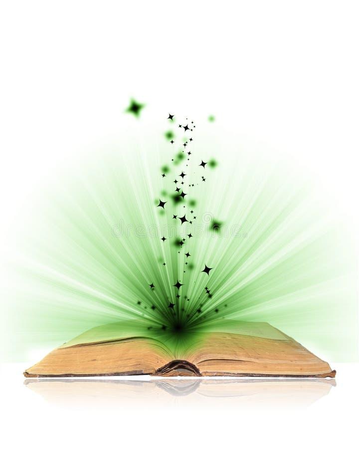 Öffnen Sie Buchmagie lizenzfreie stockbilder