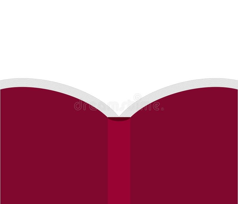 Öffnen Sie das rote zurück lokalisierte Buch Auch im corel abgehobenen Betrag vektor abbildung