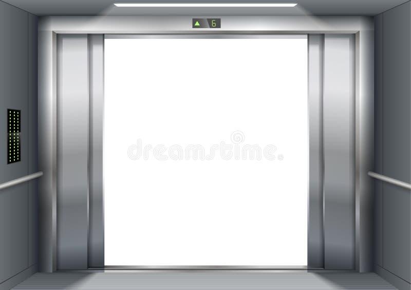 Öffnen Sie die Aufzugstüren lizenzfreie abbildung