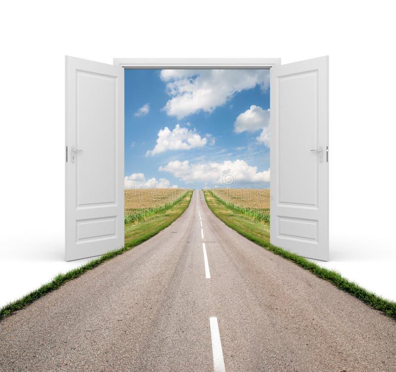 Öffnen Sie die Tür zu einer neuen Wirklichkeit lizenzfreie abbildung