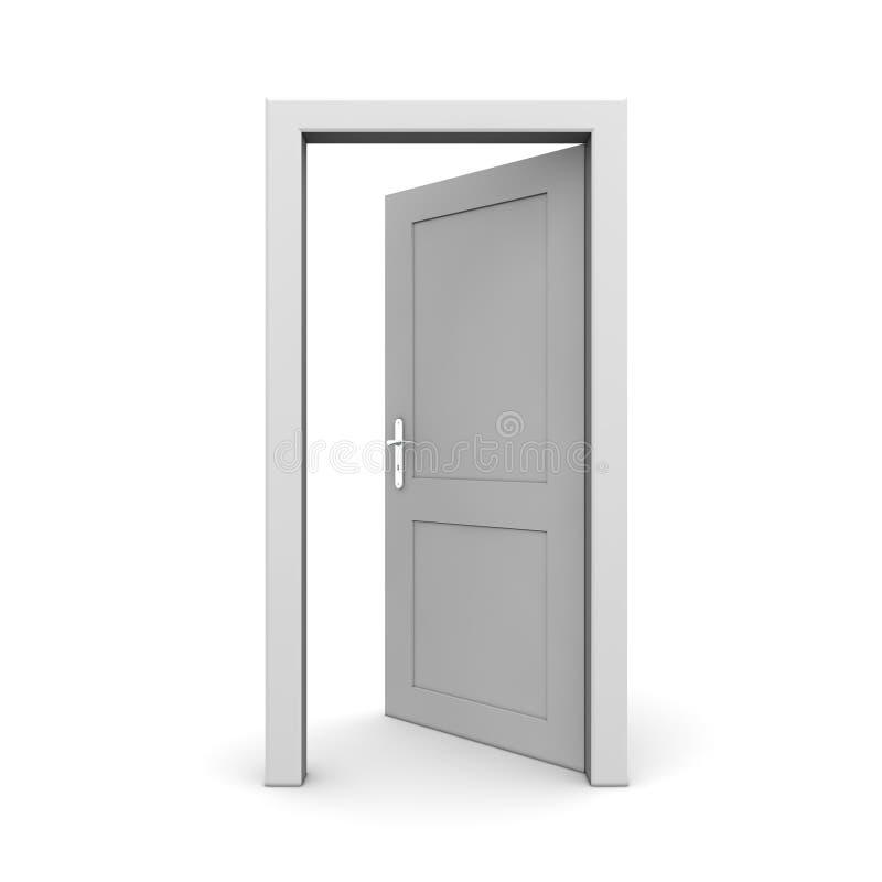 Öffnen Sie einzelne graue Tür vektor abbildung