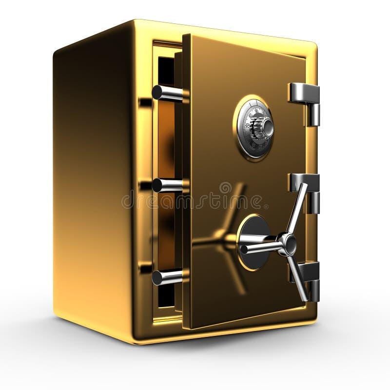 Öffnen Sie Goldsafe stock abbildung