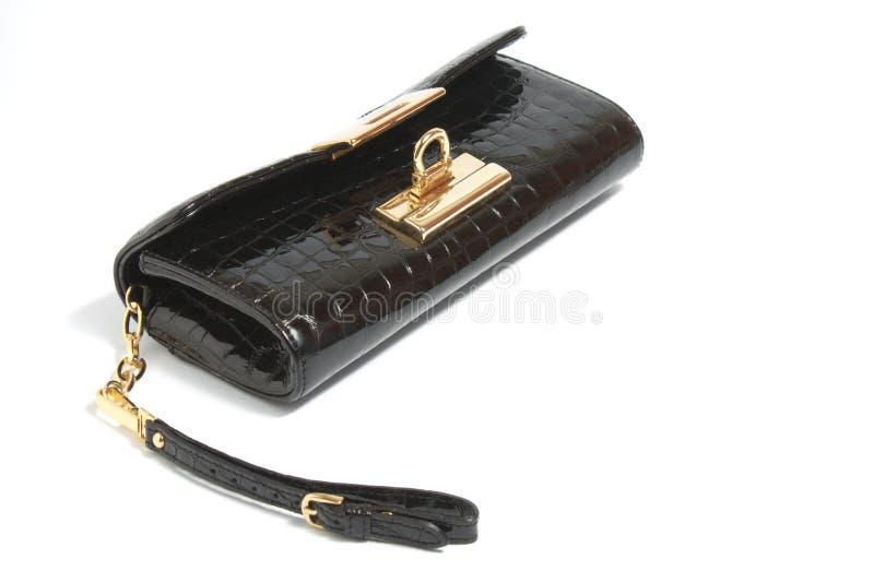 Öffnen Sie Handtasche der schwarzen Damen lizenzfreies stockbild
