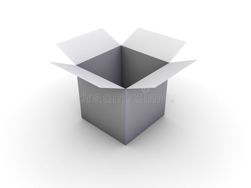 Öffnen Sie Kasten stock abbildung