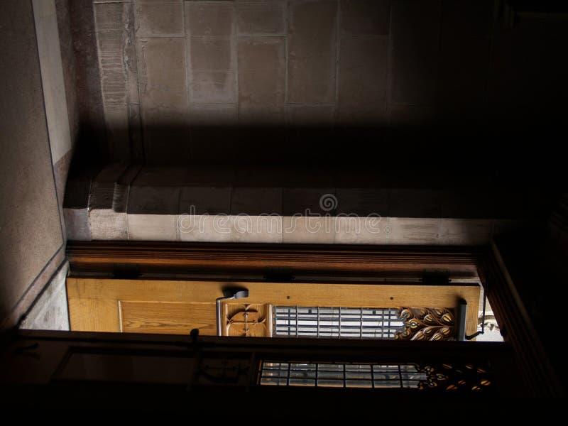Öffnen Sie Kirche-Tür stockbild