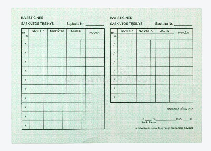 Öffnen Sie leere Seiten des Geldbuches stockfotos