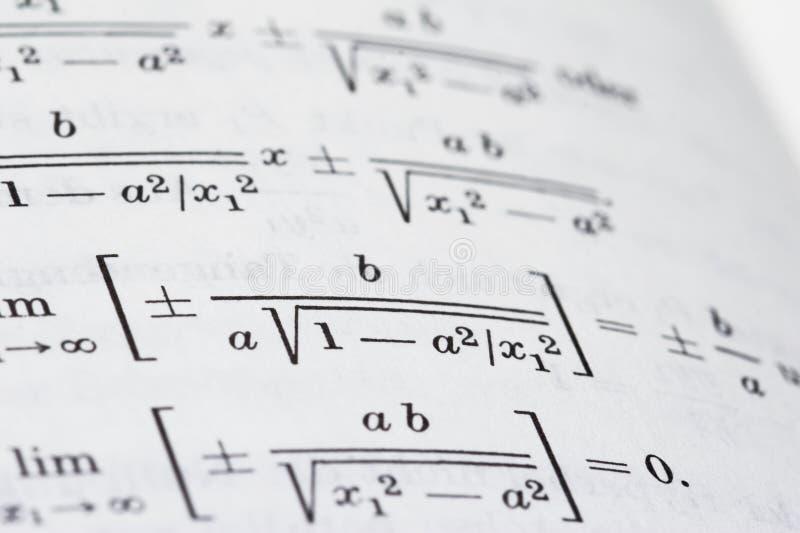 Öffnen Sie Mathebuch stockfotografie