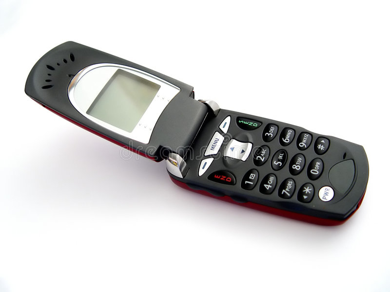 Öffnen Sie Mobiltelefon stockfotos