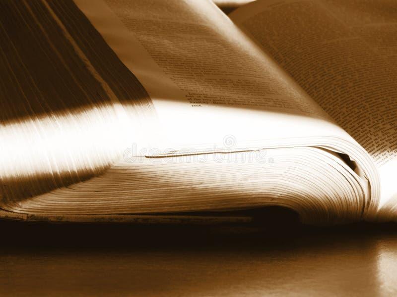 Öffnen Sie mystisches Buch lizenzfreie stockfotos