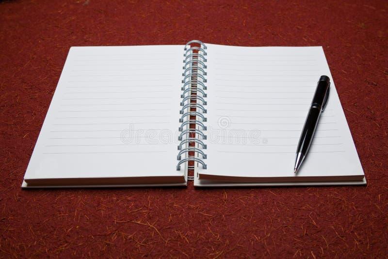 Öffnen Sie Notizblock stockbild