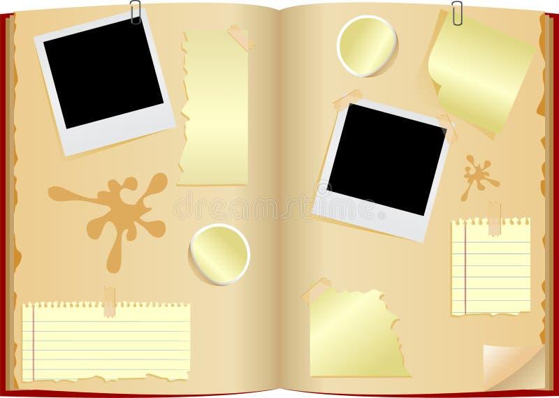 Öffnen Sie Notizbuch lizenzfreie abbildung