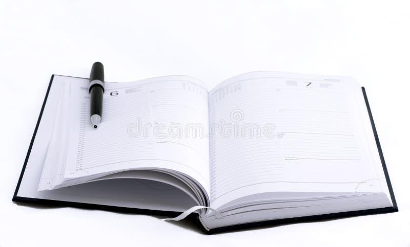 Öffnen Sie Notizbuch stockfotos