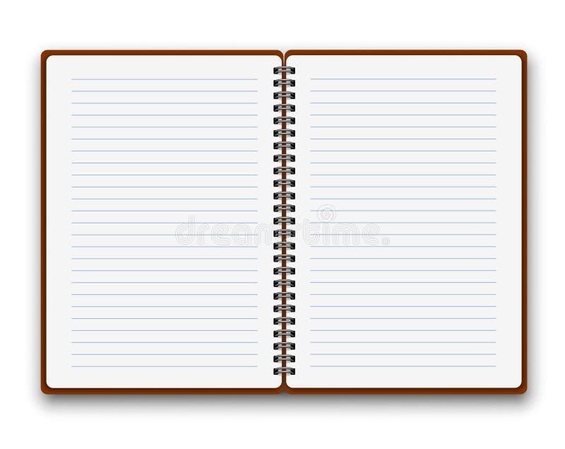Öffnen Sie Notizbuch stock abbildung