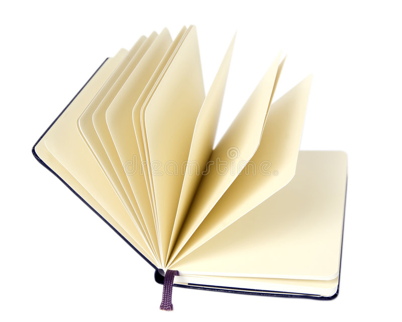 Öffnen Sie Notizbuch stockbild
