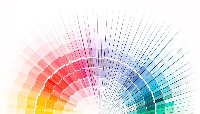 Öffnen Sie pantone Beispielfarbenkatalog lizenzfreie stockbilder