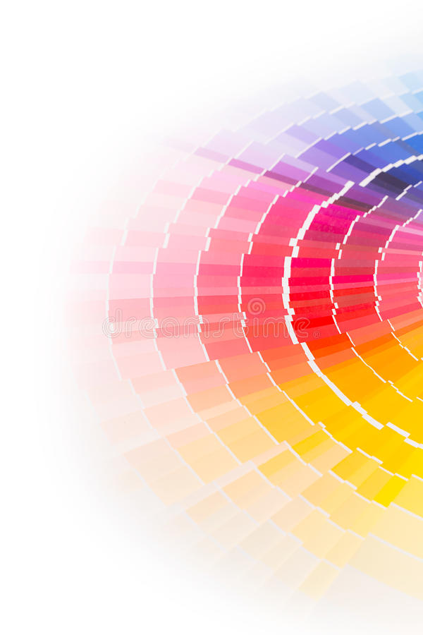 Öffnen Sie Pantone-Beispielfarbkatalog. stockfoto