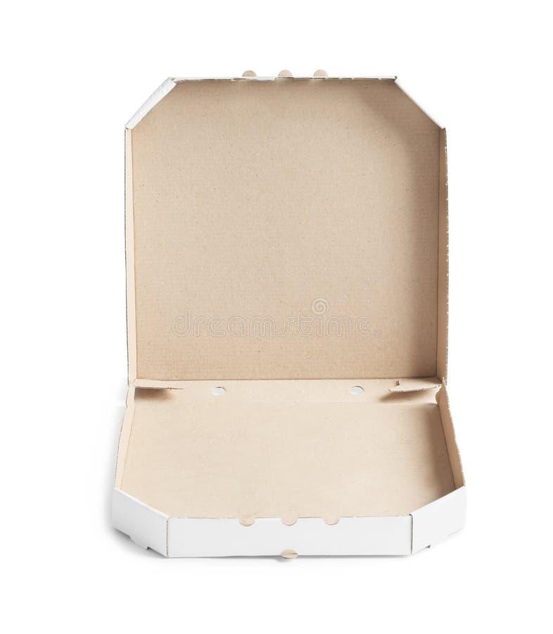 Öffnen Sie Papppizzakasten stockfotos