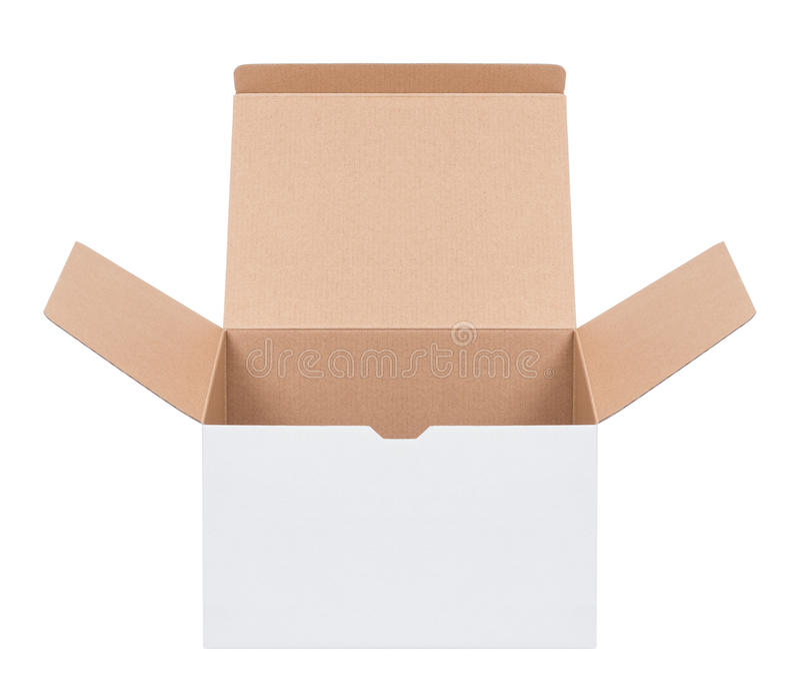 Öffnen Sie Pappschachtel lizenzfreies stockbild
