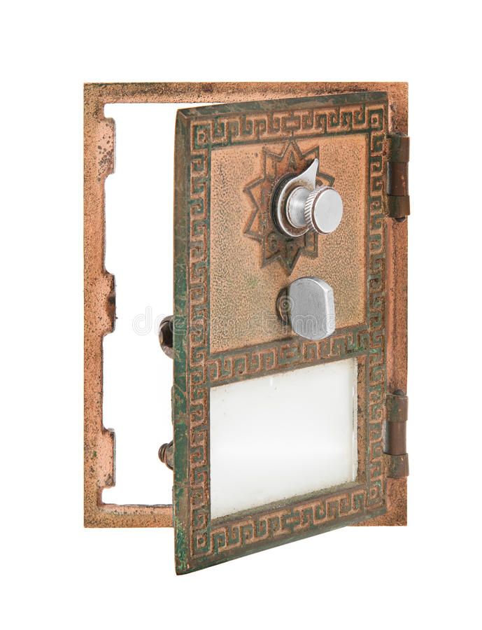 Öffnen Sie Post-Kasten-Tür - Gold stockbilder