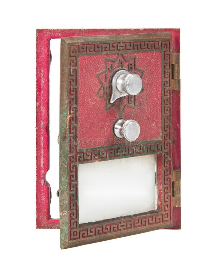 Öffnen Sie Post-Kasten-Tür - Rot lizenzfreies stockfoto