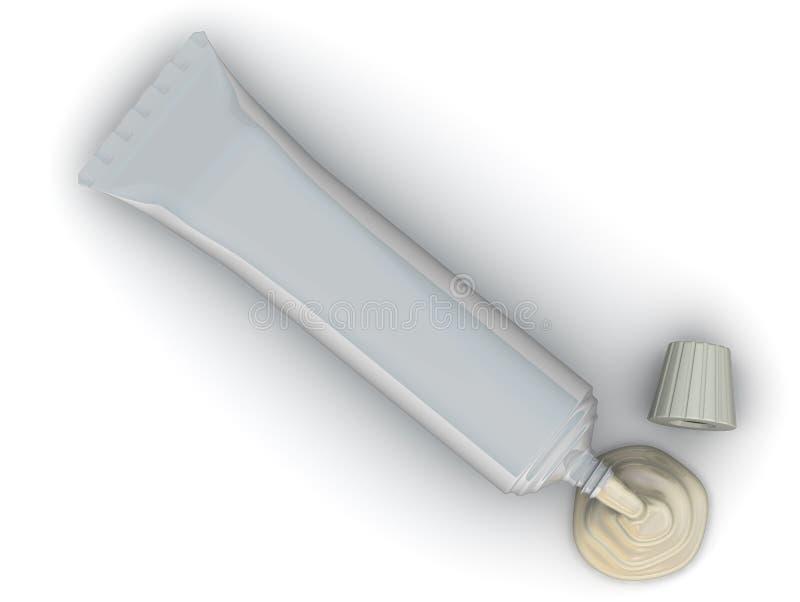Öffnen Sie Rohr mit Sahne lizenzfreie abbildung