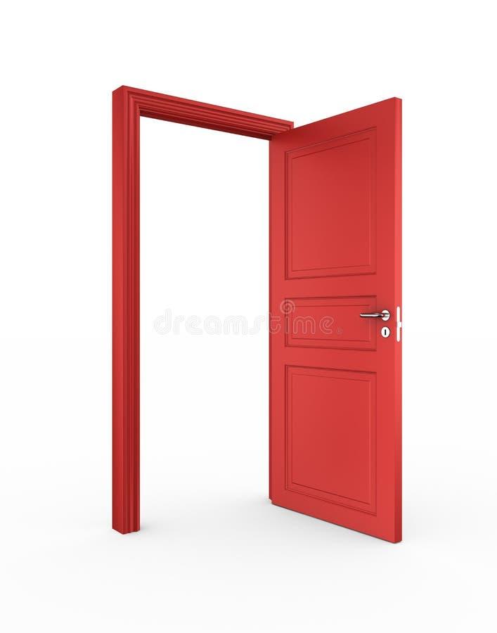 Öffnen Sie rote Tür lizenzfreie abbildung