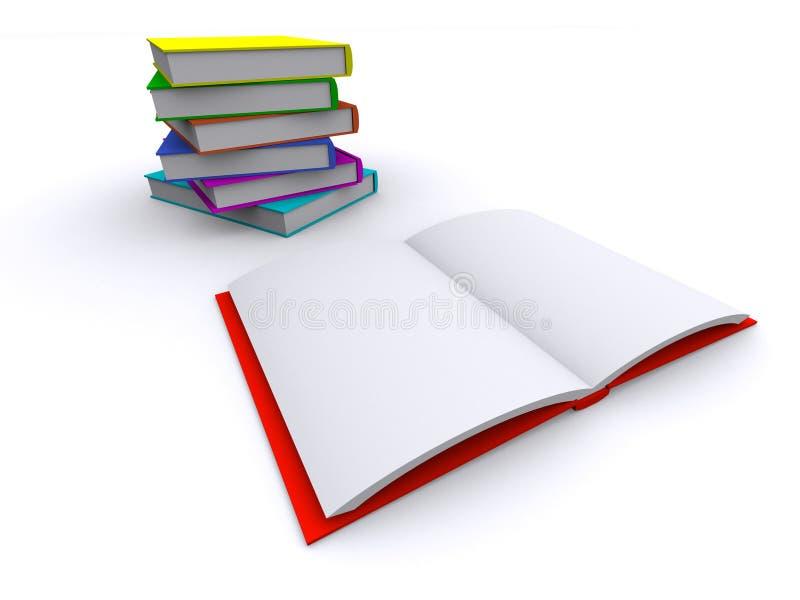 Öffnen Sie rotes Buch vektor abbildung