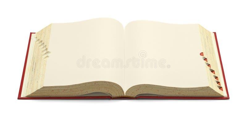 Öffnen Sie rotes Wörterbuch stockfoto