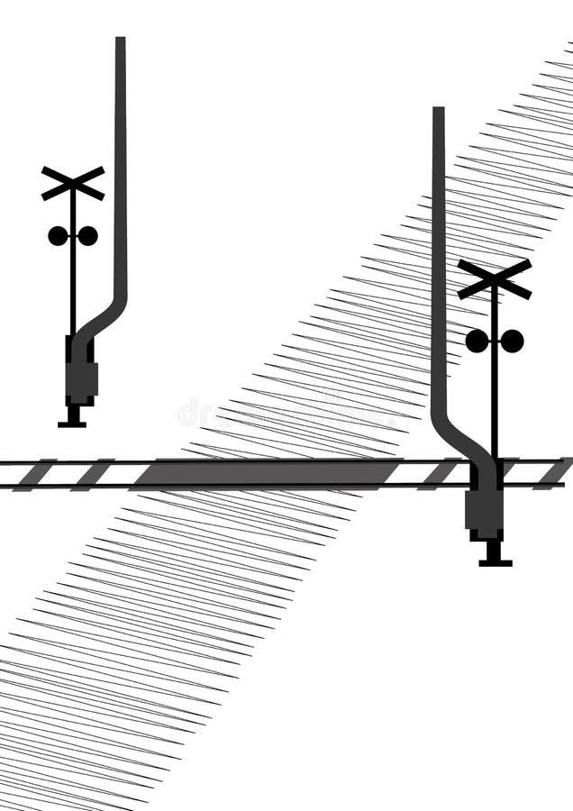 Öffnen Sie Schienenüberfahrt vektor abbildung