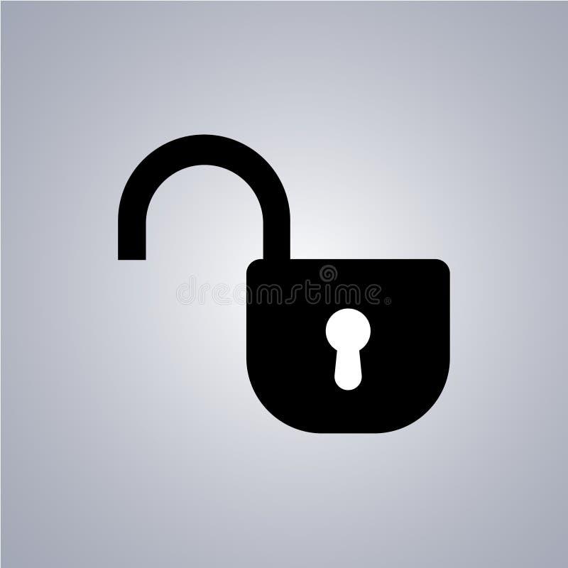 Öffnen Sie Schlüssel auf einem grauen Hintergrund Auch im corel abgehobenen Betrag lizenzfreie abbildung
