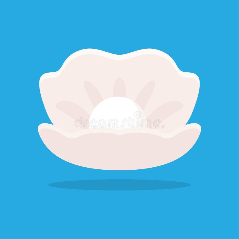 Öffnen Sie Seashell mit Perle lizenzfreie abbildung