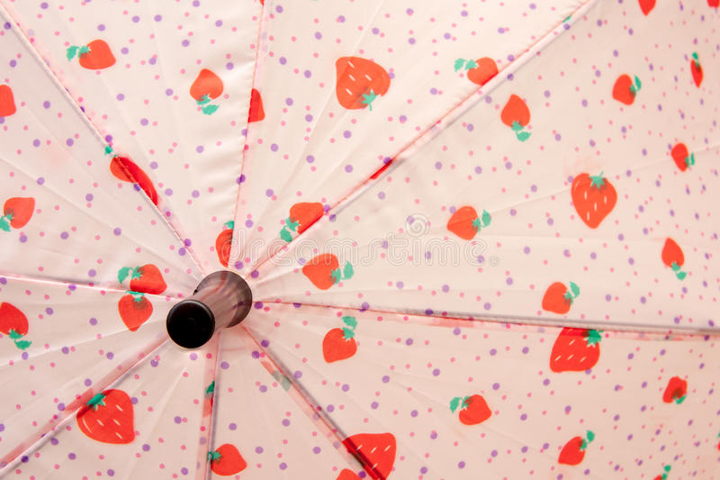 Öffnen Sie sich von einem Regenschirm lizenzfreies stockbild