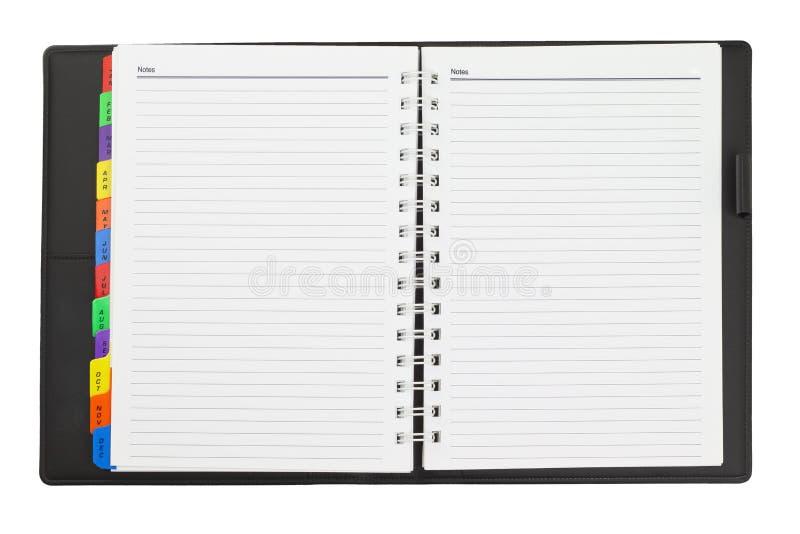Öffnen Sie Tagebuch stockbilder