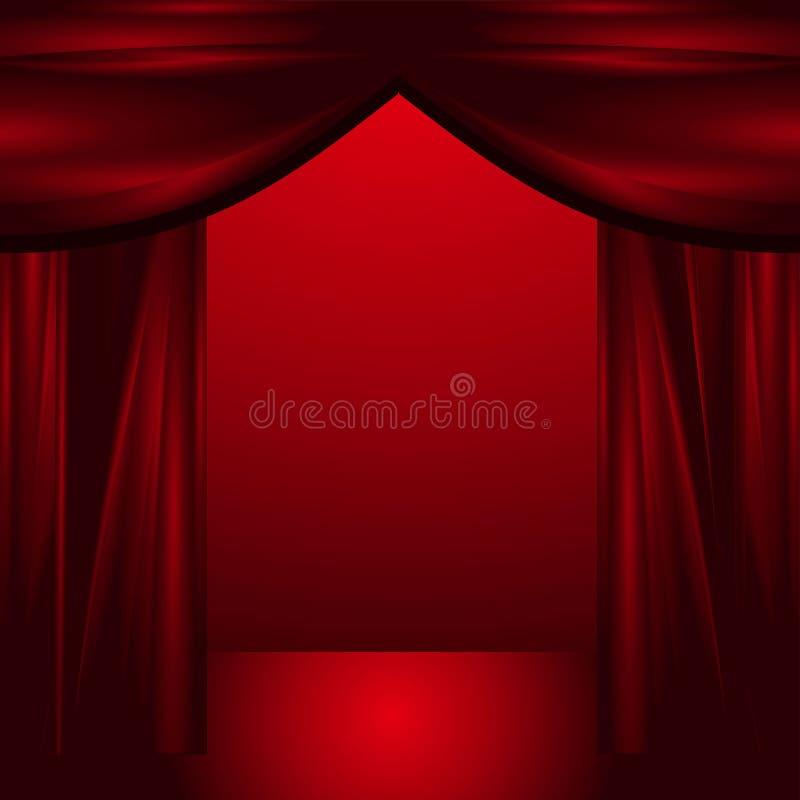Öffnen Sie Theatertrennvorhänge stock abbildung