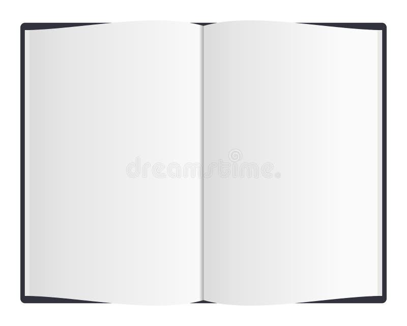 Öffnen Sie unbelegtes Buch lizenzfreie abbildung