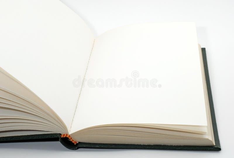 Öffnen Sie unbelegtes und leeres Buch lizenzfreie stockfotos
