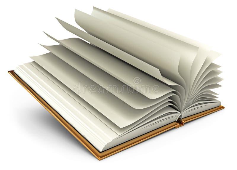 Öffnen Sie weißes Buch. Getrennt auf Weiß vektor abbildung