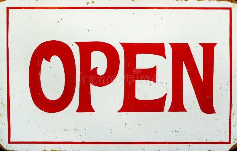 Öffnen Sie Zeichen lizenzfreies stockfoto