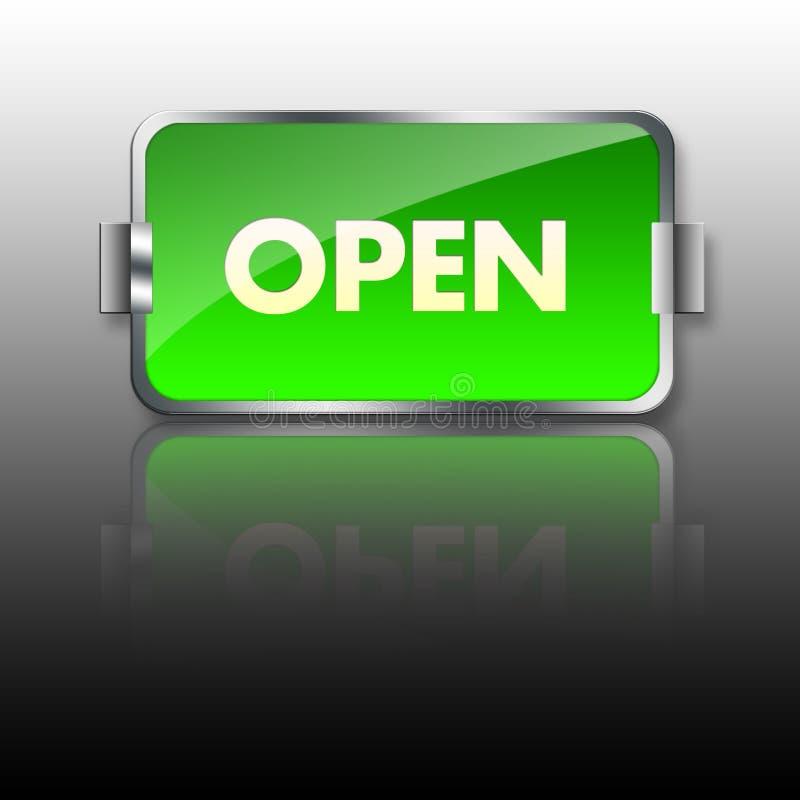 Öffnen Sie Zeichen-Abbildung Lizenzfreie Stockfotografie