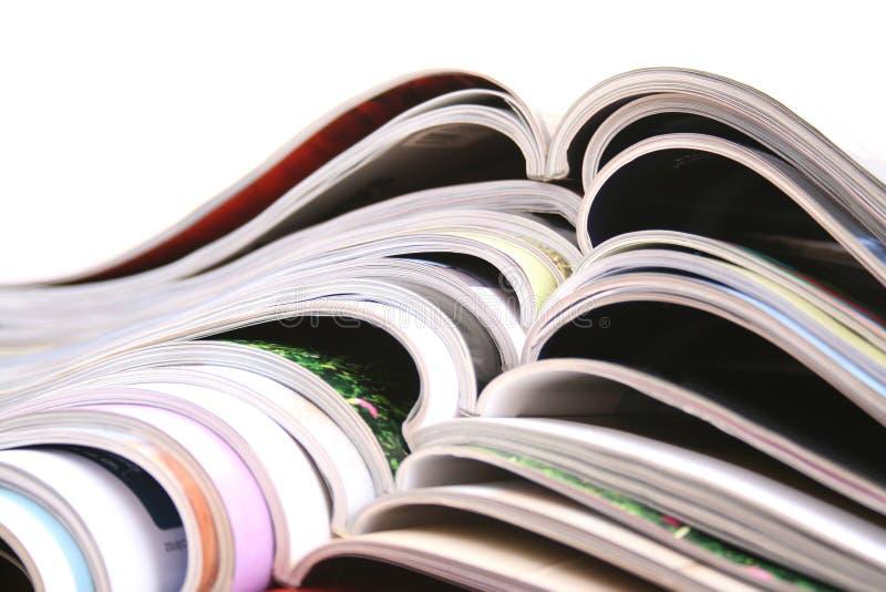 Öffnen Sie Zeitschriften lizenzfreies stockfoto