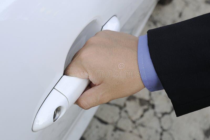 Öffnungs-Auto-Tür stockfoto