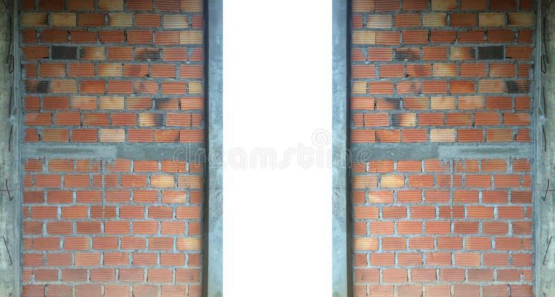 Öffnungsszene Backsteinmauerbauhintergrund lizenzfreie stockbilder