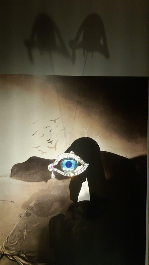 Öga av Dali arkivfoton